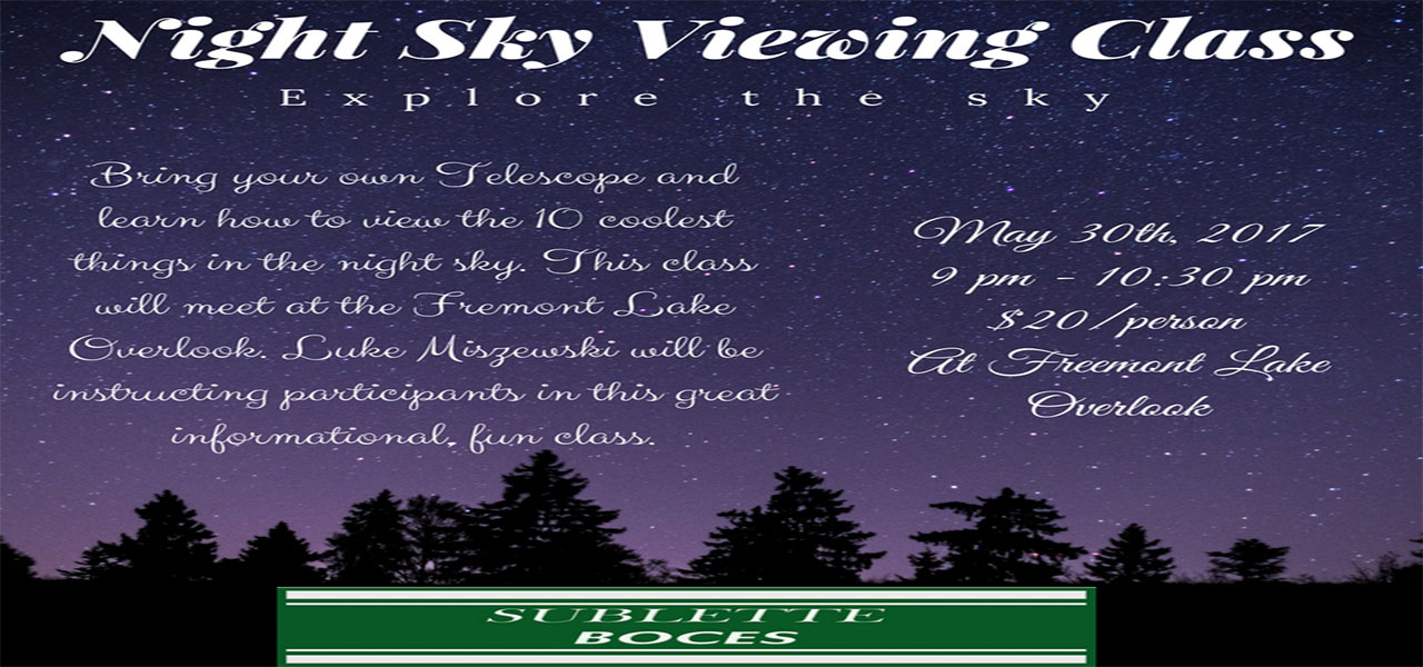 Night Sky Viewing Class