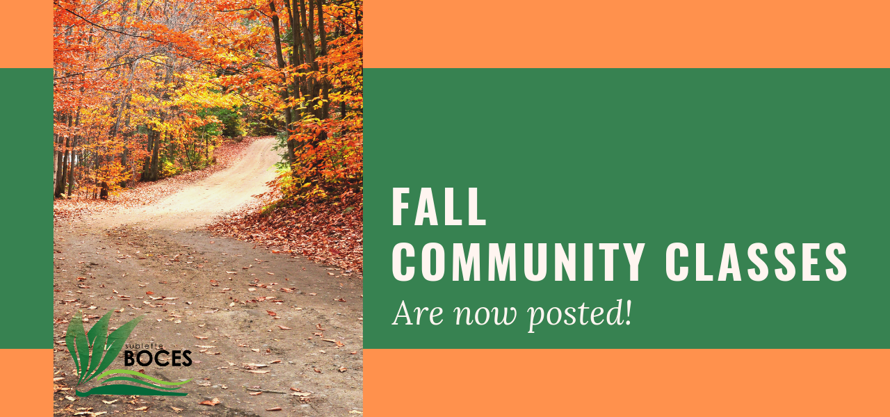 Fall Community Classes are posted